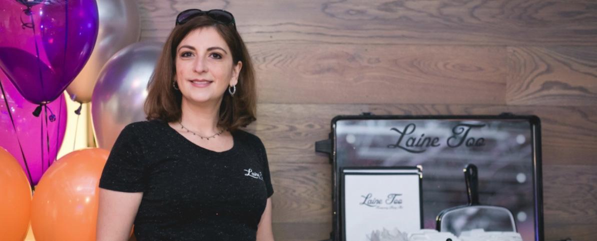 Melaine Rubin, owner of Laine Too Temporary Body Art