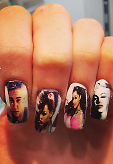 celebrities on your nails!